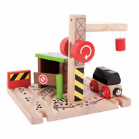 Bigjigs Rail Wooden Coal Mine Engine Carriage Locomotive Toy