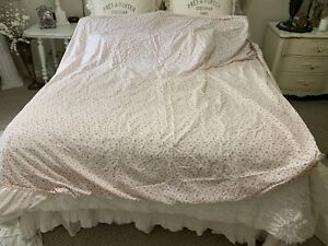 Rare RALPH LAUREN Colchester Red Calico Queen Fitted Sheet