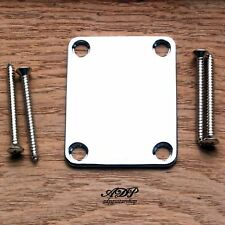PLAQUE Fixation MANCHE - NECK PLATE  CHROME FINISH standard 4 vis Nickel Screws