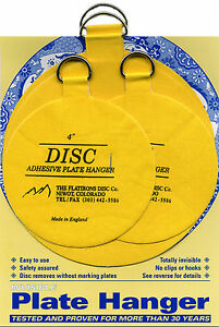 """Disc Adhesive Plate Hangers Large Assorted Set of 2x4"""" and 2x5.5"""""""