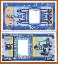 New listing Mauritania, 1000 (1,000) Ouguiya, 1999, P-9 (9a), Unc