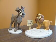 WDCC Walt Disney Lady and the Tramp Dog In Love Wet Cement Side Walk Figurine