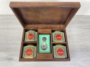 Fortnum And Mason RARE TEA COLLECTION Famous Teas - Box - Tins & Spoon