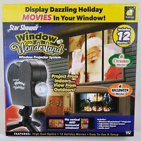 Star Shower Window Wonderland Projector System 6 Halloween 6 Christmas Movies
