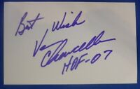 VAN CHANCELLOR HOF signed autograph 3x5 index coach