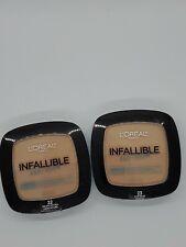 2 Loreal Infallible Pro Glow Finish Powder Long Lasting #22 Natural & #23 Beige