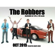 """THE ROBBERS"" 4 PC FIGURE SET FOR 1:18 AMERICAN DIORAMA 23883,23884,23885,23886"