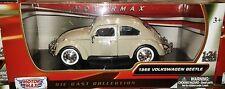 1966 VW Bug Volkswagen Beetle Die-cast Car 1:24 Motormax 6.5 inch Biege Tan