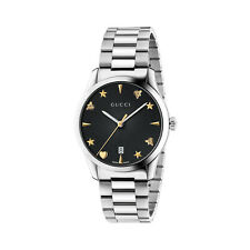 Gucci Mens Watch G-Timeless Stainless Steel - Black Dial - YA1264029A