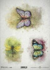 Papel De Arroz Para Decoupage, Scrapbook Hoja, artesanía pintado colorido Mariposas