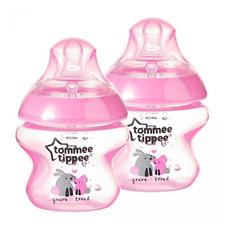 Tommee Tippee Baby Feeding Newborn Anti Colic Milk Bottles BPA Free Pink Girl x2
