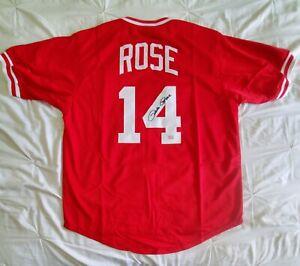 Reds PETE ROSE Signed Autographed Jersey FITERMAN SPORTS JSA COA size XL