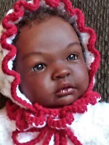African American, AA, Ethnic, Bi-Racial Reborn Baby Girl Shyann