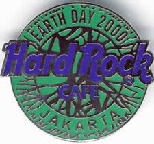 Hard Rock Cafe JAKARTA 2000 EARTH DAY PIN Blue/Green Globe - HRC Catalog #3784