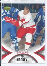Gordie Howe  06/07 UD Mini Jersey - Base Card  #39