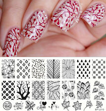 Nail Art Stamp Plate Forest Pattern Trees Image Template Born Pretty BP-L015