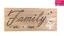 Family LED Light Up Hanging Wording Sign Home Decoration Wedding Gift GKIFAM22