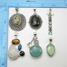 6pcs Pendants LOT !  Silver Plated Online Jewelry Stores Free Shipping