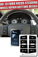 Porsche Cayenne Steering Wheel Stickers Decals Repair Worn Button Knob Switch v2