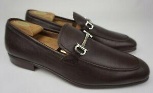 Salvatore Ferragamo Fenice Brown Leather Loafers Men's Shoes Size 11 E