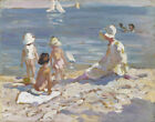 Dorothea Sharp At The Beach Canvas Print 16 x 20   # 5712