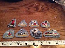 Lighthouses Fabric iron on Appliqués. (Style#2)