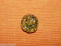 Marguerite de lustre ancien en pâte de verre verte 424003