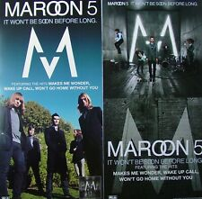 Maroon 5 It Won't Be Soon Before Too Long Promo Two Sided Poster Adam Levine New
