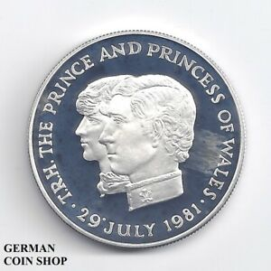 Mauritius 10 Rupees 1981 Royal Wedding Diana & Charles Silver Proof - Silver Pp