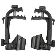 2PCS Microphone Clip On Drum Clamp Shockproof Microphone Mic Music Stand Black