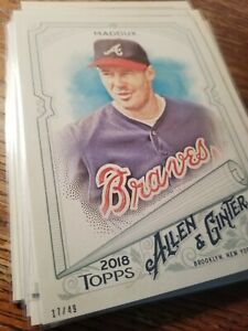 #d/49 GREG MADDUX 2018 Topps Allen & Ginter's 5x7 Braves Perfect for autos