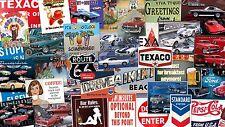 BULK LOT OF TEN Any 10 Metal TIN SIGNS Man Cave GARAGE Car TRUCK Bar AUTO Gift