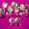 Silver Mesh Chain Drop Earrings Disco Kitsch Rave Retro 60s 70s 80s 90s