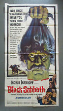 BLACK SABBATH original 1964 three-sheet movie poster BORIS KARLOFF