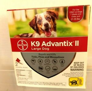 K9 Advantix ll Lg Dog 2 monthly doses spot on treatment 21-55 lbs