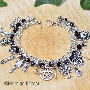 Witches Charm Bracelet - 'Darkling' - Pagan Jewellery, Wicca, Witchcraft, Gothic