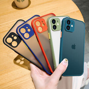 SHOCKPROOF plating clear Case For iPhone 11 12 Pro MAX 12 Pro Armor Slim Cover