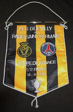 RARE FOOTBALL FANION BRODE QUEVILLY PARIS SG 1/2 FINALE COUPE FRANCE 2010