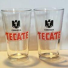 Cerveza Tecate Beer Glasses Lot of 2 16 oz  Bird Logo