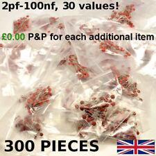 Disque en Céramique Condensateurs 50 V ASSORTIMENT Mix 300 Pack 10 x 30 valeurs Kit 2pF-100nF