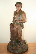 "Tom Clark Gnome ""Ww Ii Soldier"" #328, 74th Ed., Retired, w/Cert of Auth."