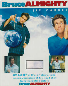 BRUCE ALMIGHTY - COLLECTIBLE CLOTH REMNANT - 10x8