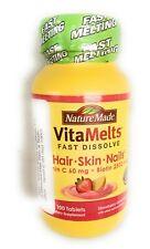 Nature Made VitaMelts HAIR SKIN NAILS 2500mcg 100 count Exp.9/20