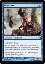 GOMAZOA Commander 2011 MTG Blue Creature — Jellyfish Unc