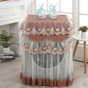 Washing Machine Cover 60*60*85cm Home Washer Washable Protector Lace Ruffle SK