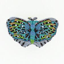 WOMEN'S EVENING BAG Elegant BUTTERFLIE Crystal-Embellished Clutch #560915-400