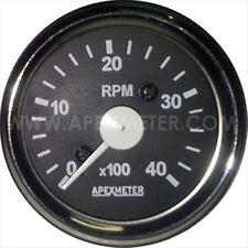 "Electronic Cockpit International 4000 RPM 2 1/16"" (52mm) Tachometer,white Chrome"