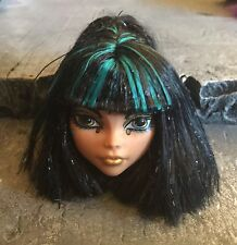 Mattel Monster High De Nile Black Blue hair head OOAK Replacement Project
