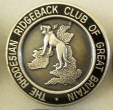 THE RHODESIAN RIDGEBACK CLUB OF GREAT BRITAIN Enamel Lapel Pin Badge DOGS