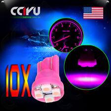 10X T10 W5W 194 168 Pink/Purple 4-3528-SMD LED Instrument Dash Gauge Light Bulbs